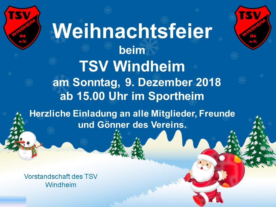 Einladung Weihnachtsfeier Verein.Tsv Windheim Einladung Zur Weihnachtsfeier
